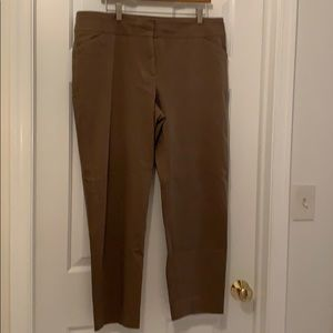 Talbots chino pants in camel.